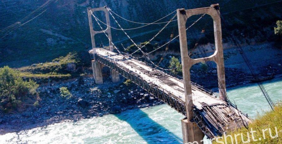 Чаплинский мост через Катунь. Алтай